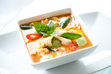 india food: Thai Food Red Curry Chicken