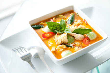 curry: Comida tailandesa Red Curry Chicken