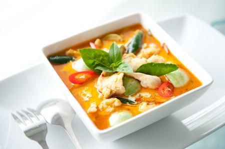 thai ethnicity: Thai Food Red Curry Chicken