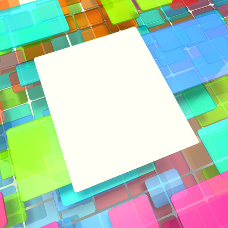 Abstract background from colored cubes