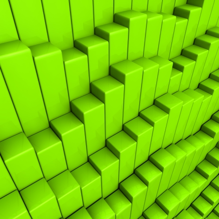 modules: abstract green cubes background