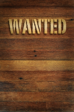 Vintage wanted photo