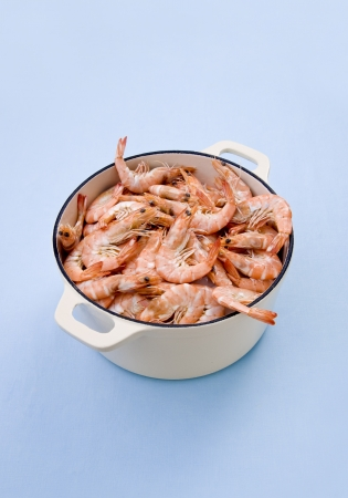 Shrimp seafood in the pot photo