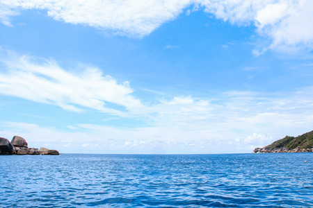 sea island beach clear water bay coast landscape blue sky for relaxation