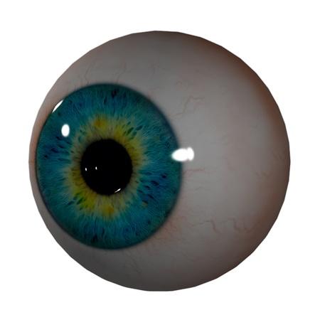 eye ball: 3d bola del ojo - vista frontal derecho