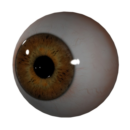 3d render Eye Ball - right front view