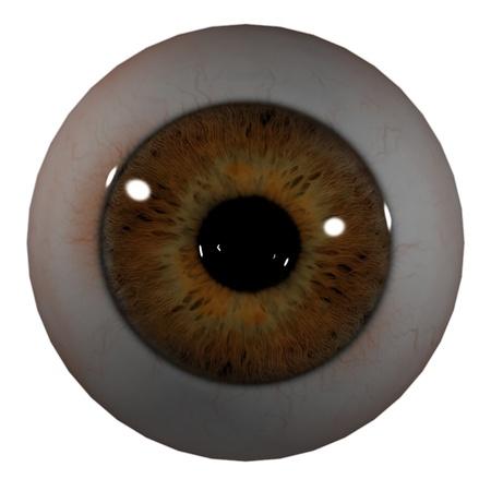 3d render Eye Ball - front view