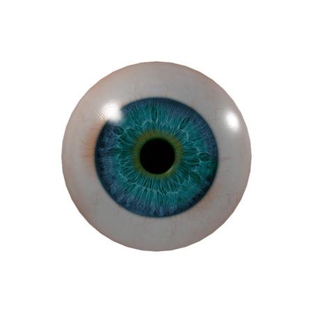 eye ball: 3d bola del ojo - vista frontal