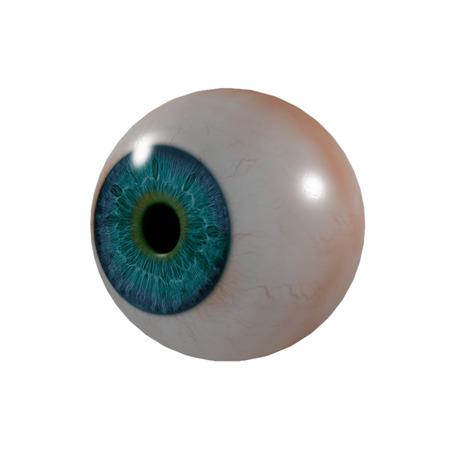 eye ball: 3d bola del ojo - vista lateral
