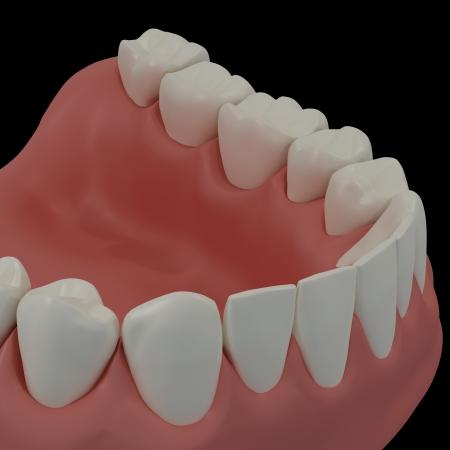 3D teeth Stock Photo