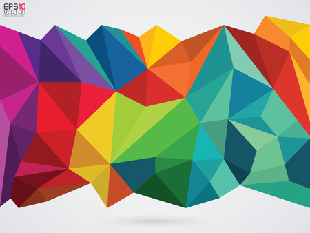 colorful abstract: vector illustration of a color on whit background