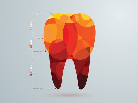 vector illustration of the dental icons