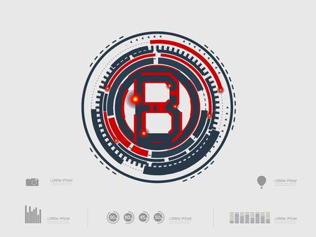 creative arts: vector illustration of a font type letter B Illustration