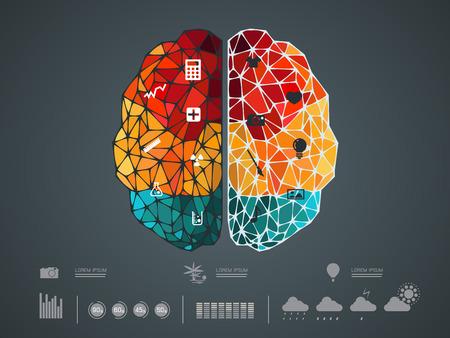 Vector illustratie van een brein icoon Stockfoto - 43842348