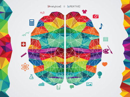 reminder concept: vector illustration of a brain icon