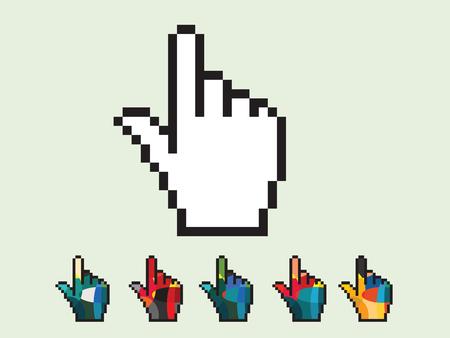 dedo: ilustraci�n vectorial de icono de la mano Vectores