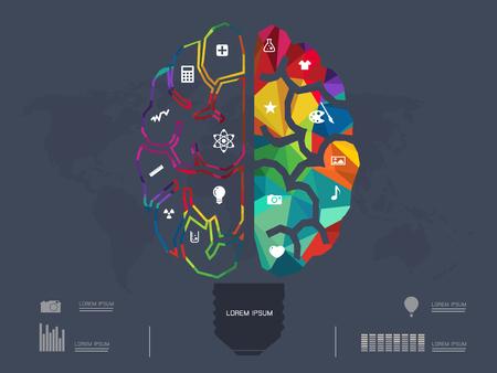analytical chemistry: illustration of Creative brain Idea