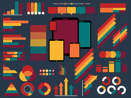 graphical chart: vector illustration of Infographic Elements Collection