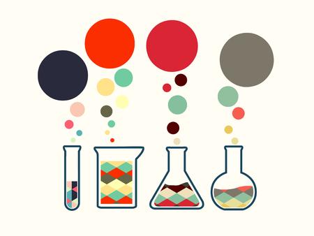 illustration of icon beaker