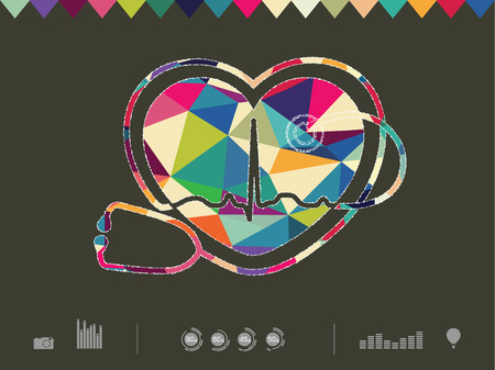 colorful heart: vector illustration of colorful heart