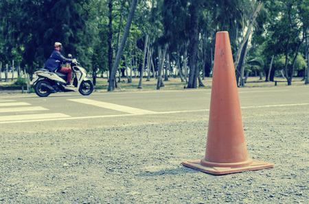 Orange Traffic Cone - vintage filter