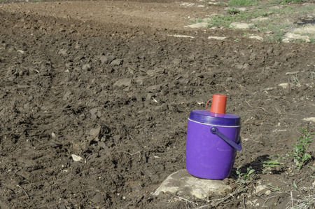 Drinks beverage cooler flask in the farm