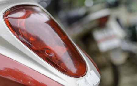taillight: taillight of motorcycle