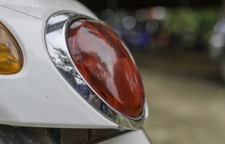 taillight: he taillight of motorcycle Stock Photo