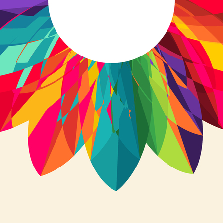 vector illustration of circle  Multicolored Background Illustration