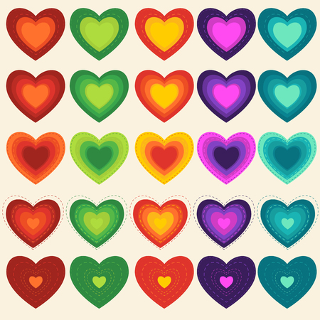 Abstract heart, Multicolored Background