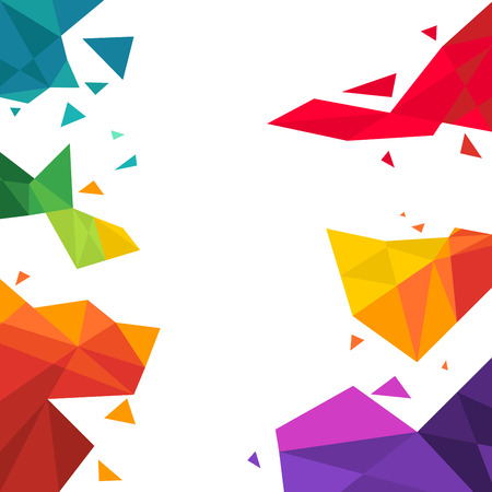 vector illustration of triangle  Multicolored Background Illusztráció