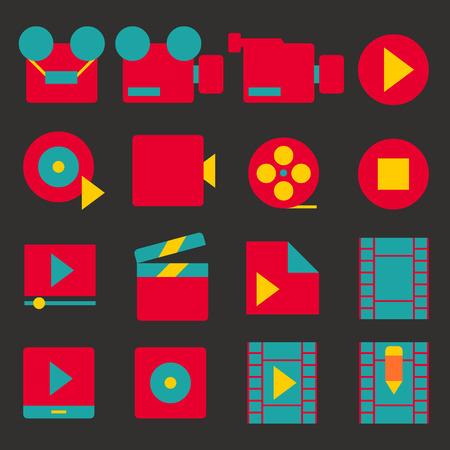 vector illustration of icon media