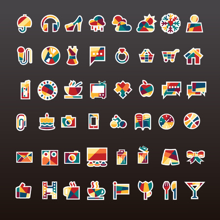 vector of travel icon set