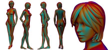 3d rendering medical illustration of the female anatomy