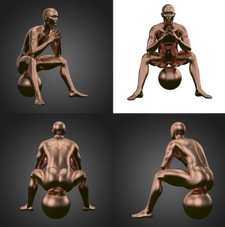 3d rendering illustration of copper human Standard-Bild - 133352992