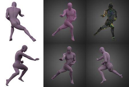 3d rendering illustration of skeleton bone anatomy collection Standard-Bild - 133353018