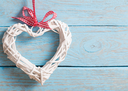 full willow: Valentines day background with hearts Stock Photo