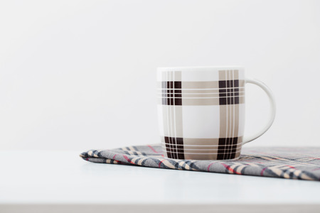 highkey: cups on white table Stock Photo