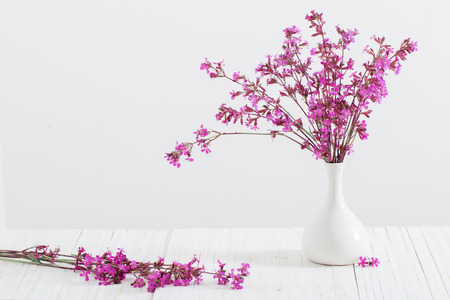 Pink flowers in a vase