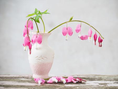 꽃병에 출혈하는 심장 꽃