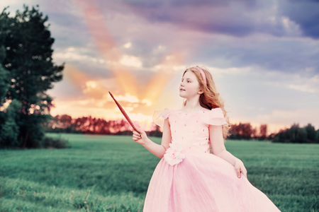little fairy outdoor Stock Photo