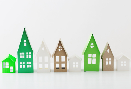 paper house on white background Stock Photo