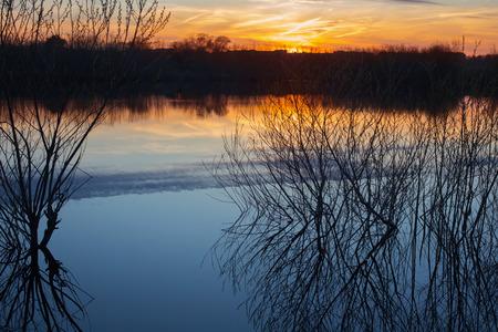 spring spill at sunset 版權商用圖片