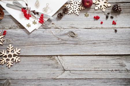Christmas holidays table Stock Photo
