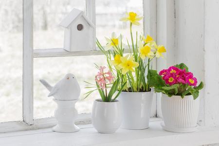 Easter decoration on windowsill