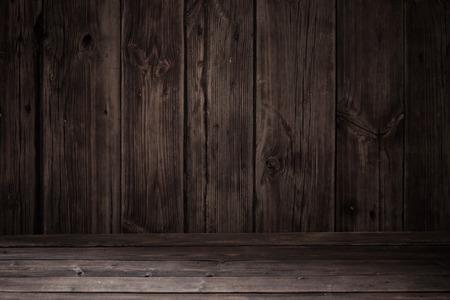rustikaler alter dunkler Holzhintergrund Standard-Bild