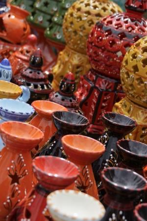 glazes: Tunisian pottery-3