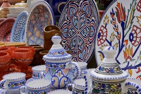 glazes: Tunisian pottery Stock Photo