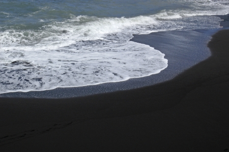 Beautiful black beach on La Palma photo