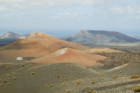 timanfaya: Hermoso paisaje del parque volc�nico de Timanfaya en Lanzarote